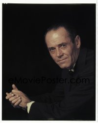 4d019 HENRY FONDA 8x10 transparency 1960s great Paramount close portrait over black background!