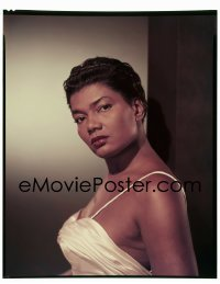 4d039 ST. LOUIS BLUES 8x10 transparency 1958 Paramount portrait of Pearl Bailey in sexy dress!