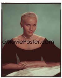 4d040 THAT CERTAIN FEELING 8x10 transparency 1956 portrait of Eva Marie Saint wearing pearls!