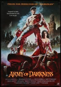 4f085 ARMY OF DARKNESS Aust 1sh 1993 Sam Raimi, great artwork of Bruce Campbell with chainsaw hand!