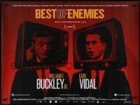 4f881 BEST OF ENEMIES British quad 2015 William F. Buckley & Gore Vidal pointing at each other during debate!