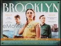 4f885 BROOKLYN advance DS British quad 2015 Saoirse Ronan, Domhnall Gleeson, NYC!