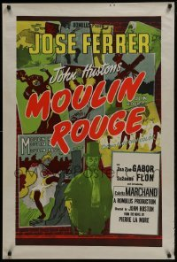 4f844 MOULIN ROUGE English 1sh R1950s different art of Jose Ferrer as Toulouse-Lautrec!