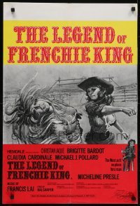 4f856 LEGEND OF FRENCHIE KING English double crown 1971 Claudia Cardinale punching Brigitte Bardot!