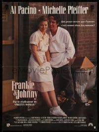 4f801 FRANKIE & JOHNNY French 16x21 1991 great image of Al Pacino & Michelle Pfeiffer!
