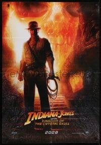 4f076 INDIANA JONES & THE KINGDOM OF THE CRYSTAL SKULL teaser Lebanese 2008 Drew art of Harrison Ford!