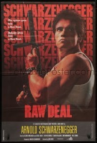 4f080 RAW DEAL Lebanese 1986 Arnold Schwarzenegger w/ wild hair style not seen in the film!