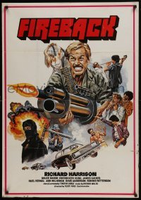 4f053 FIREBACK South African 1983 Teddy Page, Richard Harrison, Bruce Baron, different art!