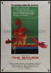 4f055 GAMES South African 1970 Michael Crawford, Ryan O'Neal, Michael Winner, cool Olympic sports art!