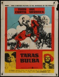 4f059 TARAS BULBA South African 1962 different art of Tony Curtis & Yul Brynner clashing!