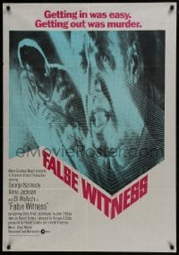 4f061 ZIGZAG South African 1970 George Kennedy, Anne Jackson, Eli Wallach, getting out was murder!