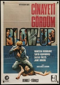 4f065 BLOW-UP Turkish 1971 Michelangelo Antonioni, David Hemmings photographs sexy Verushka!