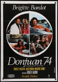 4f070 MS. DON JUAN Turkish 1974 Don Juan ou Si Don Juan etait une femme, Bardot, Roger Vadim!