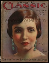 4h836 MOTION PICTURE CLASSIC English magazine January 1927 cover art of Alice Joyce by Don Reed!