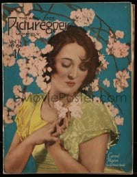 4h871 PICTUREGOER English magazine April 1926 great cover portrait of sexy Carmel Myers!