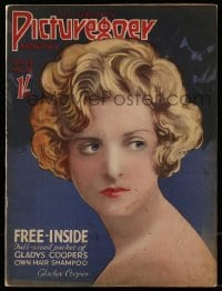 4h879 PICTUREGOER English magazine February 1927 great cover portrait of pretty Gladys Cooper!