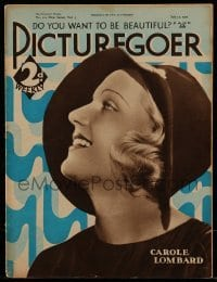 4h898 PICTUREGOER English magazine July 15, 1933 great cover profile portrait of Carole Lombard!