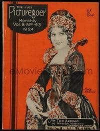 4h864 PICTUREGOER English magazine July 1924 Mary Pickford, Rudolph Valentino's Trip Abroad!