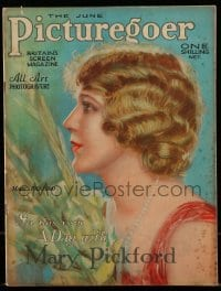 4h888 PICTUREGOER English magazine June 1929 great cover art of pretty Mary Pickford!
