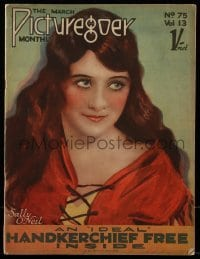 4h880 PICTUREGOER English magazine March 1927 great cover portrait of pretty Sally O'Neil!