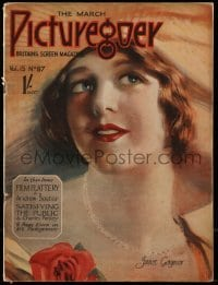 4h882 PICTUREGOER English magazine March 1928 great cover portrait of pretty Janet Gaynor!