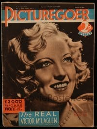 4h893 PICTUREGOER English magazine March 19, 1932 great cover portrait of pretty Marion Davies!
