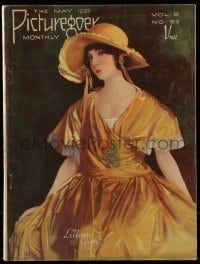 4h866 PICTUREGOER English magazine May 1925 great cover art of pretty Lillian Gish in yellow dress!