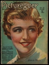 4h883 PICTUREGOER English magazine May 1928 great cover portrait of pretty smiling Laura La Plante!