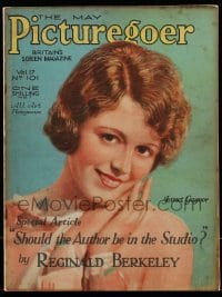 4h887 PICTUREGOER English magazine May 1929 great cover art of pretty Janet Gaynor!