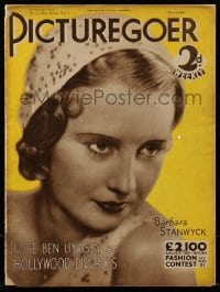4h896 PICTUREGOER English magazine May 21, 1932 great cover portrait of sexy Barbara Stanwyck!