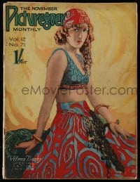 4h876 PICTUREGOER English magazine November 1926 great cover portrait of sexy gypsy Vilma Banky!