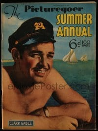 4h853 PICTUREGOER SUMMER ANNUAL English magazine 1937 barechested Clark Gable wearing sailor cap!