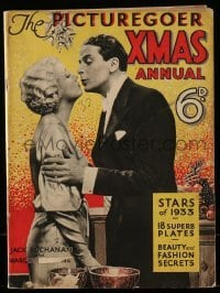4h857 PICTUREGOER XMAS ANNUAL English magazine 1932 Jack Buchanan & Margot Grahame on the cover!