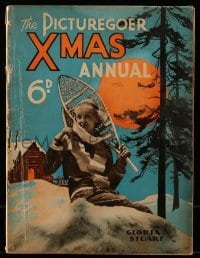 4h858 PICTUREGOER XMAS ANNUAL English magazine 1933 Gloria Stuart playing in snow on the cover!