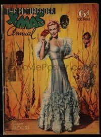4h861 PICTUREGOER XMAS ANNUAL English magazine 1936 pretty Ginger Rogers celebrates the New Year!