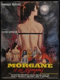 4j780 GIRL SLAVES OF MORGANA LE FAY French 1p 1972 art of naked female slaves by Roger Boumendil!
