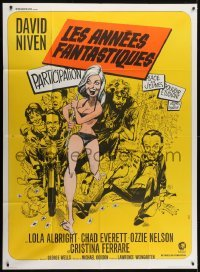 4j814 IMPOSSIBLE YEARS French 1p 1968 David Niven, Cristina Ferrare, different art by Jack Davis!