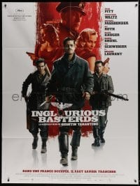 4j816 INGLOURIOUS BASTERDS French 1p 2009 directed by Quentin Tarantino, Nazi-killer Brad Pitt!