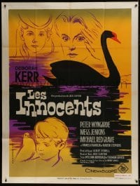 4j817 INNOCENTS French 1p 1962 different art of Deborah Kerr & swan, Henry James' classic story!