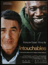 4j818 INTOUCHABLES French 1p 2012 great close portrait of Francois Cluzet & Omar Sy!