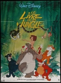 4j823 JUNGLE BOOK French 1p R1980s Walt Disney cartoon classic, great image of all characters!