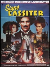 4j838 LASSITER French 1p 1984 Tom Selleck, Jane Seymour & sexy Lauren Hutton, different art!