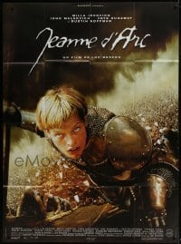 4j868 MESSENGER French 1p 1999 directed by Luc Besson, c/u of Milla Jovovich as Joan of Arc!