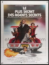 4j893 NUDE BOMB French 1p 1980 Don Adams as Maxwell Smart in car trunk with girls, Landi art!