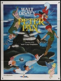 4j903 PETER PAN French 1p R1970s Walt Disney animated cartoon fantasy classic, great different art!