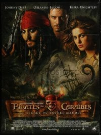 4j904 PIRATES OF THE CARIBBEAN: DEAD MAN'S CHEST French 1p 2006 Johnny Depp, Keira Knightley, Bloom