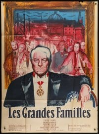 4j908 POSSESSORS style A French 1p 1958 Les Grandes Familles, art of Jean Gabin by Rene Peron!