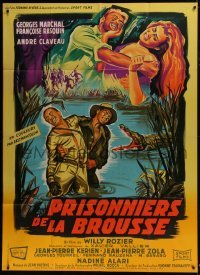 4j910 PRISONERS OF THE CONGO French 1p 1960 Belinsky art of Marchal & Rasquin in savage Africa!