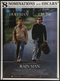 4j919 RAIN MAN awards French 1p 1988 Tom Cruise & autistic Dustin Hoffman, Barry Levinson directed!
