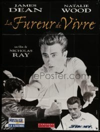 4j922 REBEL WITHOUT A CAUSE French 1p R1990s Nicholas Ray, great different images of James Dean!